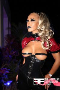 Hot babe in latex outfit