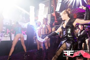 Fetish scene at party