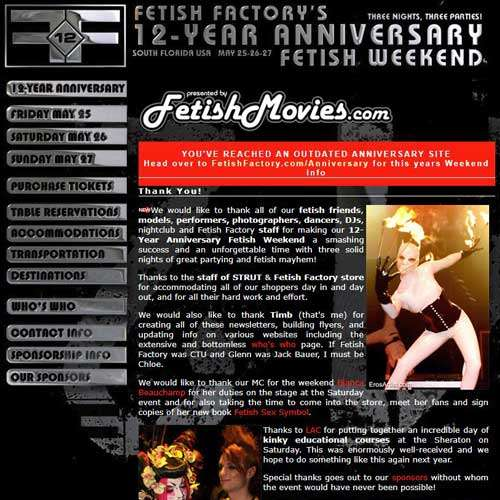 12 Year Anniversary Fetish Party
