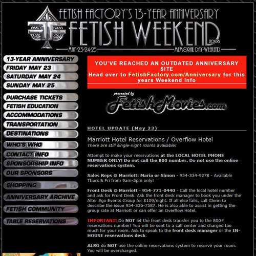 13 Year Anniversary Fetish Party