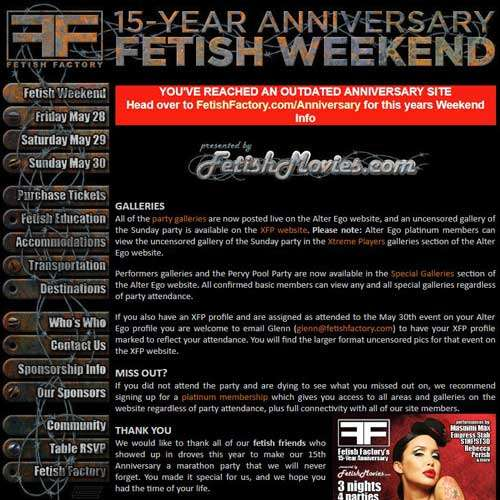 15 Year Anniversary Fetish Party