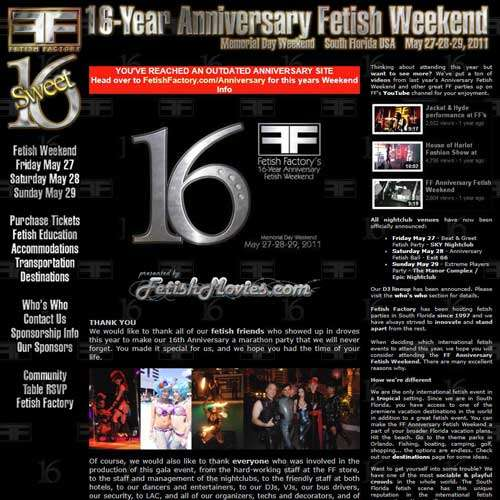 16 Year Anniversary Fetish Party
