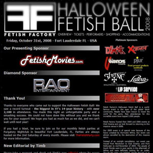 Fetish Factory's 2008 Halloween Ball