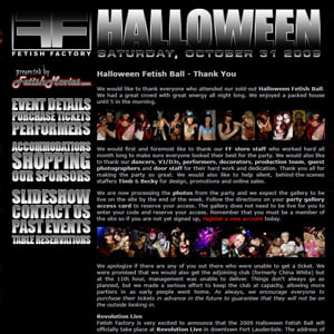 Fetish Factory's 2009 Halloween Ball