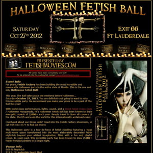 Fetish Factory's 2012 Halloween Ball